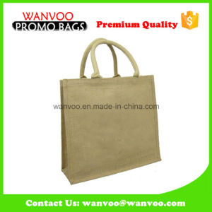 Promotional Eco Medium Jute Tote Bag Shopping Bag Lady Handbag pictures & photos