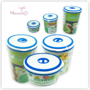 Round Food Lunch Box, Fresh-Keeping Plastic Food Container pictures & photos