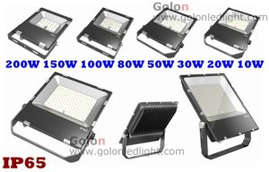 Dimmable Daylight Sensor Flood Lights 200W 150W 80W 50W 30W 20W 10W Outdoor Lighting 100W 200 Watts LED Floodlight pictures & photos