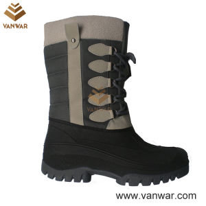 Stiched Snow Boots with Waterproof Outsole (WSB026) pictures & photos