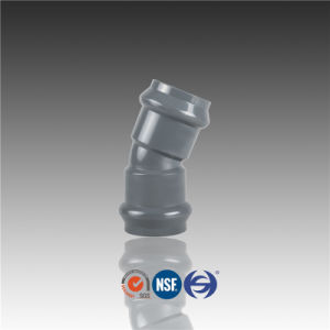 PVC Pipe Fitting Rubber Ring 22.5 Degree Elbow pictures & photos