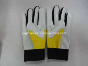Work Glove-Leather Glove-Pig Grain Leather Glove-Labor Glove-Weight Lifting Glove pictures & photos