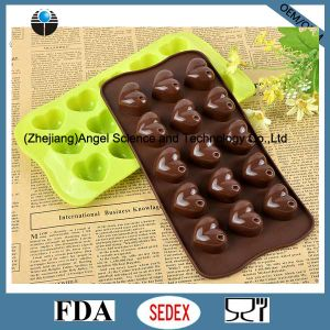 15-Cavity Silicone Chocolate Mold Heart Silicone Ice Mold Sc42