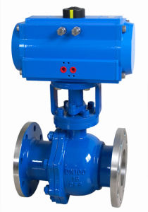 Pneumatic Actuated Flanged Floating Cutting-off Ball Valve (GZSHO) pictures & photos