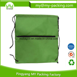OEM Order Manufacturer Zipped Drawstring Bags for Shopping pictures & photos