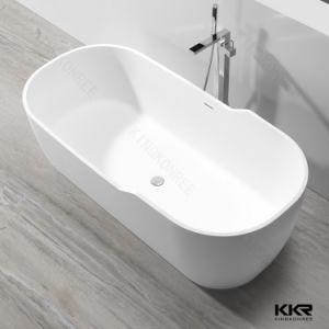Sanitary Ware Custom Size Solid Surface Whirlpool Freestanding Bathtubs pictures & photos