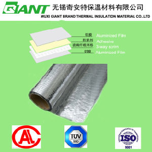 Double Side Reinforced Aluminum Film with Aluminum Foil Radiant Barrier Facing Insulation pictures & photos