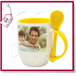 12oz Sublimation Ceramic Spoon Mug for Personalized Gifts pictures & photos