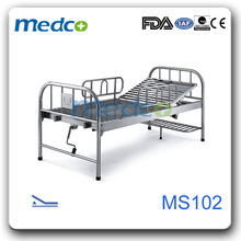 Single Crank Stainless Steel Manual Hospital Bed pictures & photos