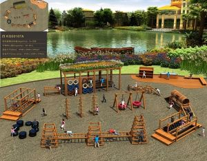 Kaiqi Outdoor Climbing Series Obstacle Course Children′s Adventure Playground Set (KQ50107A) pictures & photos