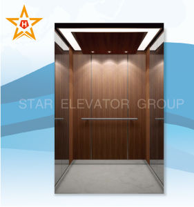 Residental Elevator with Plastic Plate & Mirror Stainless Steel