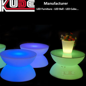LED Bar Light Dining Table Round Dining Table Set pictures & photos