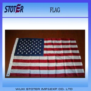 Factory Direct 3X5FT 210d Nylon Embroidered American Flag