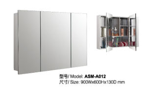 Stainless Steel Mirror Cabinet (ASM-012)