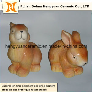 Animal Shaped Ceramic Craft, Ceramic Rabbit for Easter Decoration pictures & photos