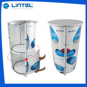 Aluminum Protable Banner Stand Spiral Tower Showcase (Lt-07A) pictures & photos