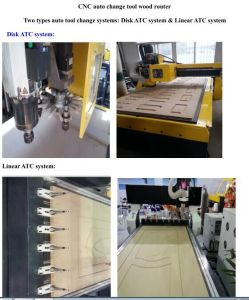 Multifunctional CNC Router CNC Wood Lathe Machine with 16 Tools pictures & photos
