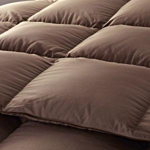 Khaki Cover EU Standard 95% White Goose Filling Quilt pictures & photos