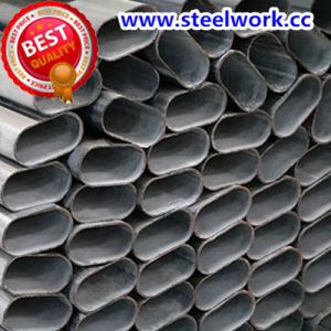 ERW Galvanized/ Annealing Welded Flat Oval Steel Pipe (T-06) pictures & photos