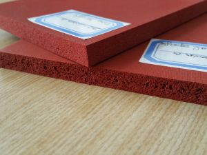 Heat Resistant Silicone Sponge Rubber Sheet, Silicone Foam Rubber Sheet Special for Ironing Table pictures & photos