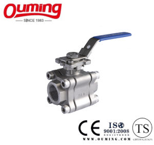 3PC High Pressure Ball Valve with Mounting Pad pictures & photos