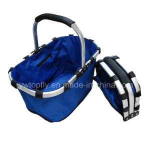 Portable Folding Shopping Basket for Promotional and Supermarket pictures & photos