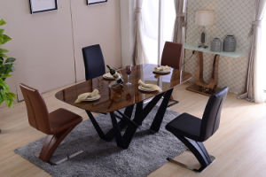 China Good Price Wood Veneer Dining Table Set for Home (DTS-001) pictures & photos