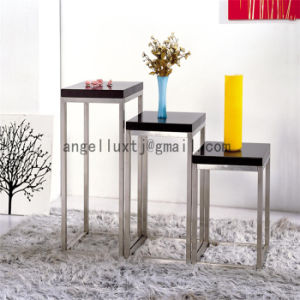 Black Marble Table-Board Customized Stainless Steel Legs Flower Table pictures & photos