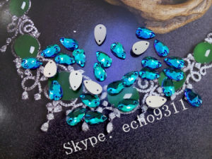 Emerald Drop Sew on Stones for Costume Decoration (DZ-3065) pictures & photos