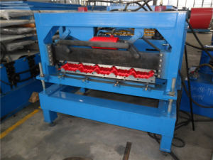 Hot Trapazoidal Glazed Steel Modular Tile Roof Roll Forming Machine pictures & photos