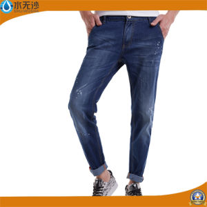 Fashion Blue Skinny Jeans Men Cotton Elastic Casual Denim Pants