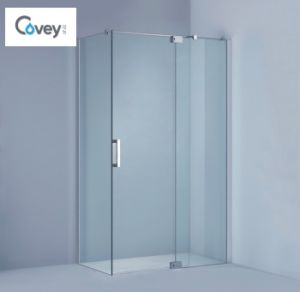 Clean Design Frameless Shower Enclosure / Hinged Bathroom Shower Cabin (KW01)