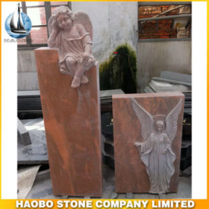 Hot Sale of Red Granite Angel Headstone, Tombstone pictures & photos