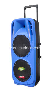 Super Big Power Woofer Double 10inch Plastic Trolley Battery Bluetooth Speaker with Light F73D pictures & photos
