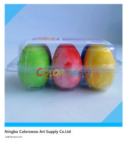 High Qulaity Egg Shape Dustless Colorful Chalk pictures & photos