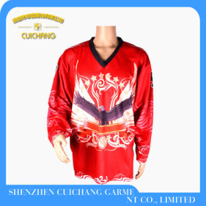 Custom Design Polyester Quick Dry Hockey Jersey pictures & photos