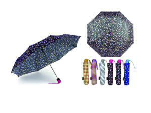 Colorful DOT Print 3 Fold Open&Close Umbrellas (YS-3FD22083969R) pictures & photos