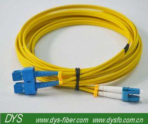 Sc-LC Sm Duplex Fiber Optical Patch Cord pictures & photos