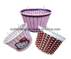 Hot Sale Kids Plastic Bicycle Basket for Bike (HBK-140) pictures & photos
