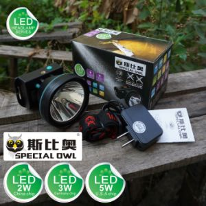 2W 3W 5W LED Headlamp 2PCS Rechargeable Lithium Battery Camping Outdoor Coal Miner Lamp Mining Headlamp Floating Light, Fishing Light pictures & photos