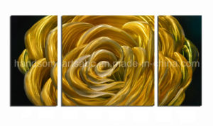 3D Handmade Metal Wall Painting for Home Decor - Yellow Rose pictures & photos