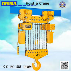 25 Ton Brima Bmer Type Electric Chain Hoist with Electric Trolley pictures & photos