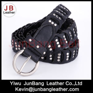 Fashion Ladie′s PU Braid Belt with Rivet pictures & photos
