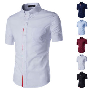 Hot Men′s Button Down Collar Short Sleeve Dress Shirts (A435) pictures & photos