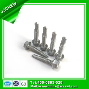 Dacromet Hex Wafer Head Self Drilling Screws for Roofing pictures & photos