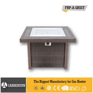 41, 000BTU Square Wicker Garden Gas Outdoor Patio Firepit with CE CSA Aga