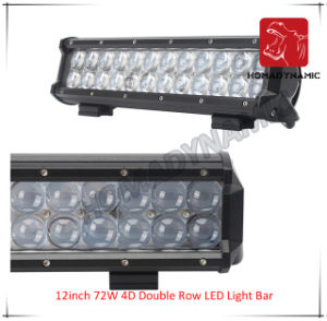 LED Car Light 12inch 72W 4D Double Row LED Light Bar Waterproof for SUV Car LED off Road Light and LED Driving Light pictures & photos