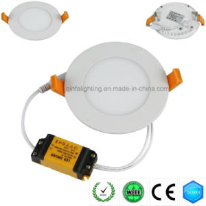 6W LED Round Panel Light with LED Driver