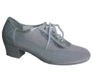 Women′s Silver Mesh Upper Tango/Latin Dance Practice Shoes pictures & photos