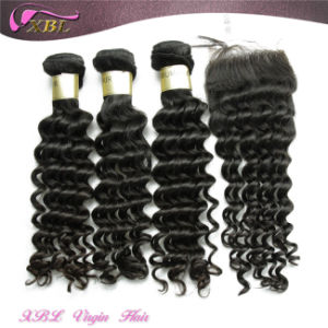 Virgin Malaysian Human Hair Lace Closure Real Hair Extentions pictures & photos